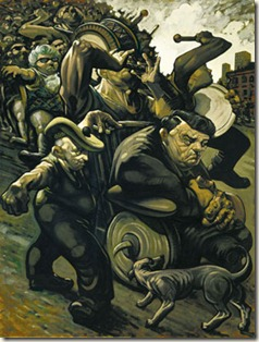 Peter Howson - blind leading the blind III (1991)