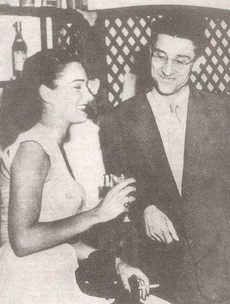 paves com constance downling, seu último amor, em roma, 1950