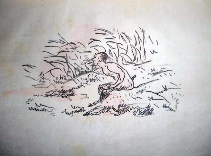 Ilustração por Édouard Manet.