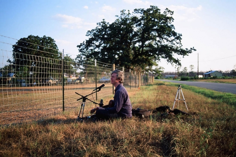bill callahan gravando em austin, texas. foto de hanly banks, 2013.