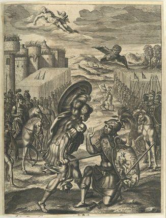 """""""Aeneas killing Turnus"""" de William Faithorne (1616-1691)"""
