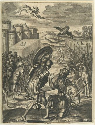 """Aeneas killing Turnus"" de William Faithorne (1616-1691)"