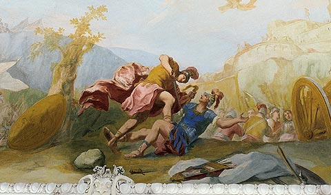 """""""Kampf des Aeneas mit dem Turnus"""", de Franz Joachim Beich (1666-1748)"""