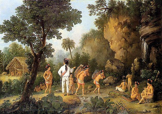Índios escravizados, por Debret, c. 1816-1831