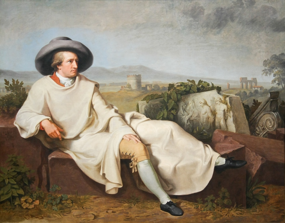 """""""Goethe na Campânia Romana"""", 1786, por Johann Heinrich Wilhelm Tischbein."""
