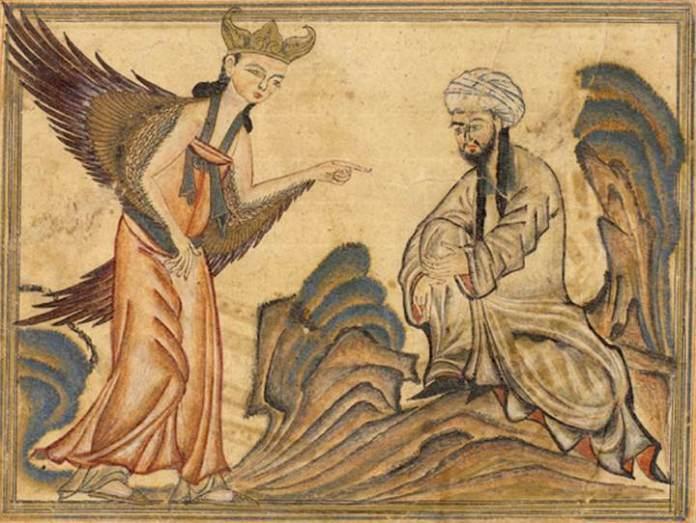 Maomé-e-o-anjo-Gabriel
