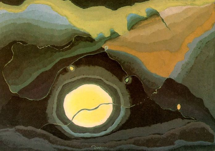 """Me and the Moon"" (1937), de Arthur Dove (1880 - 1946)"