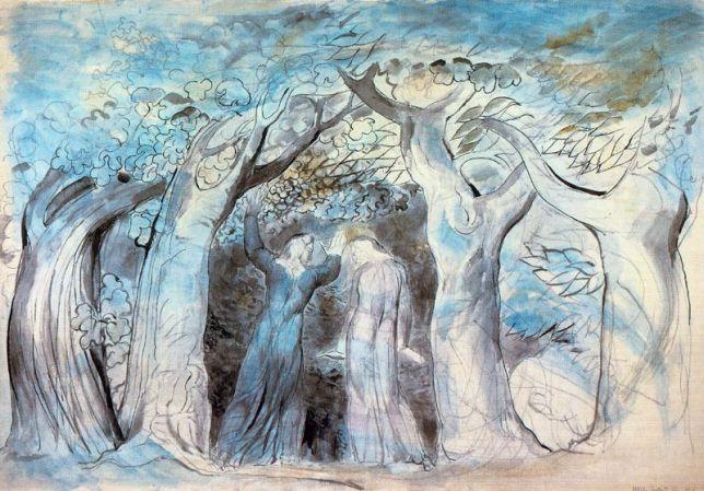 Ilustração de William Blake para o Canto I