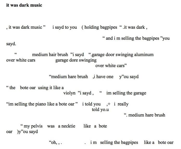 it was dark music