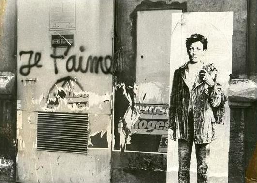 Arthur Rimbaud por Ernest Pignon-Ernest, Paris 1978/79