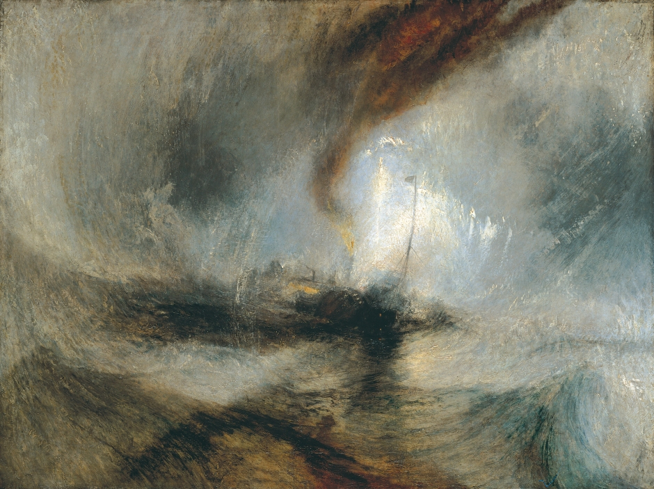 J.M.W. Turner - Snow Storm - Steam-Boat off a Harbour's Mouth (1842)