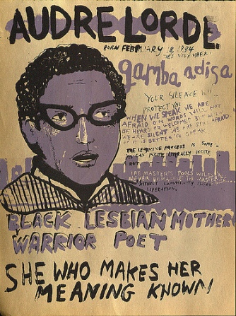 poster de Audre Lorde. créditos: Beeswax Goatskull