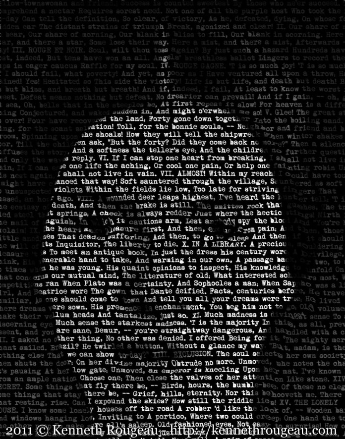 Retrato tipográfico de Emily Dickinson, por Kenneth Rougeau