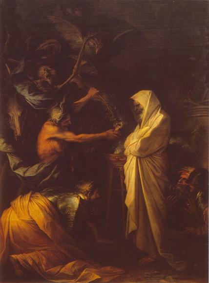 Salvator Rosa - A sombra de Samuel aparece para Saul