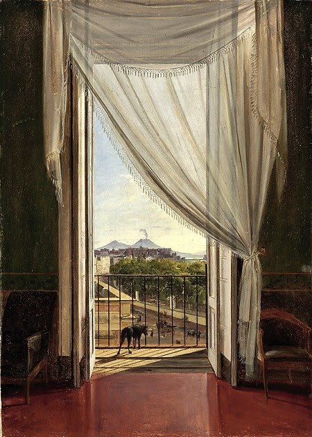 Franz Ludwig Catel (German, 1788–1856) A View of Naples through a Window, 1824