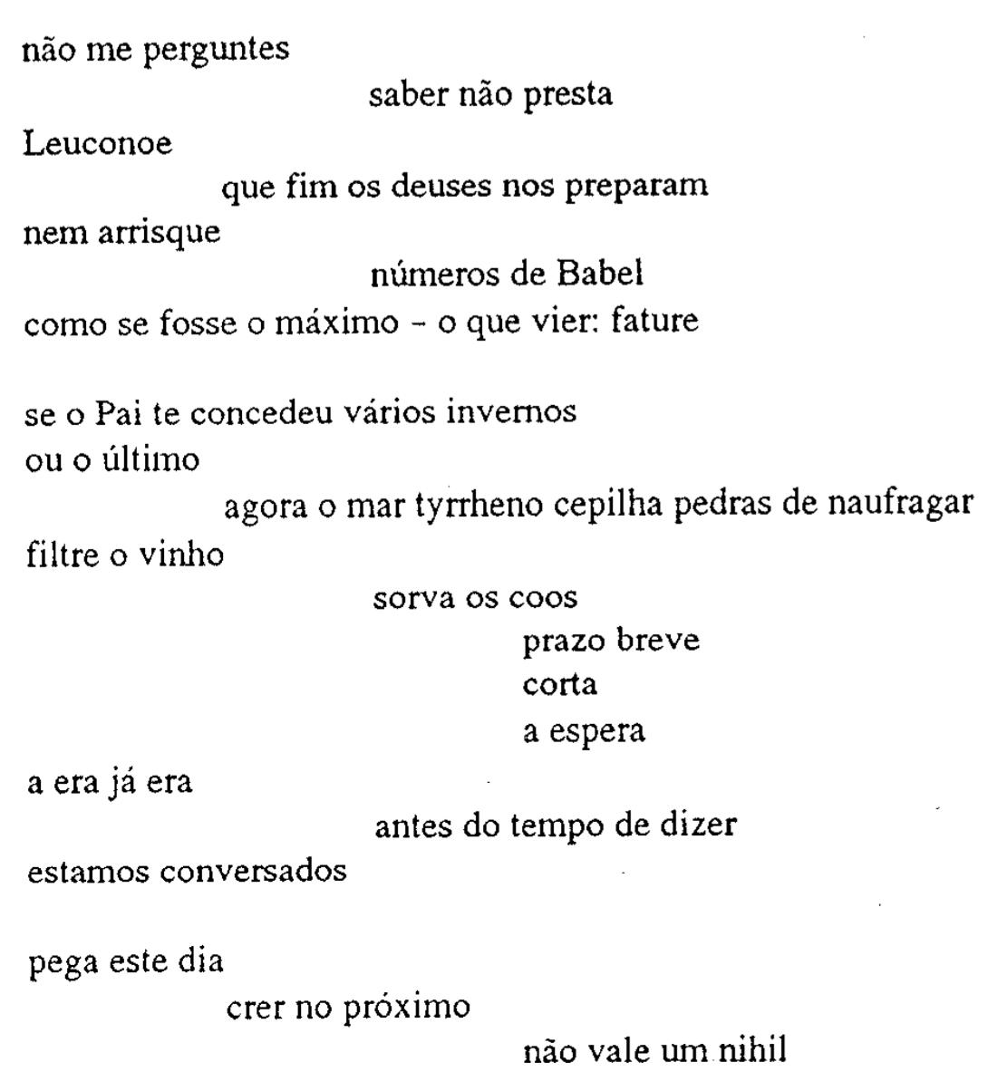 Leuconoe testo latino dating