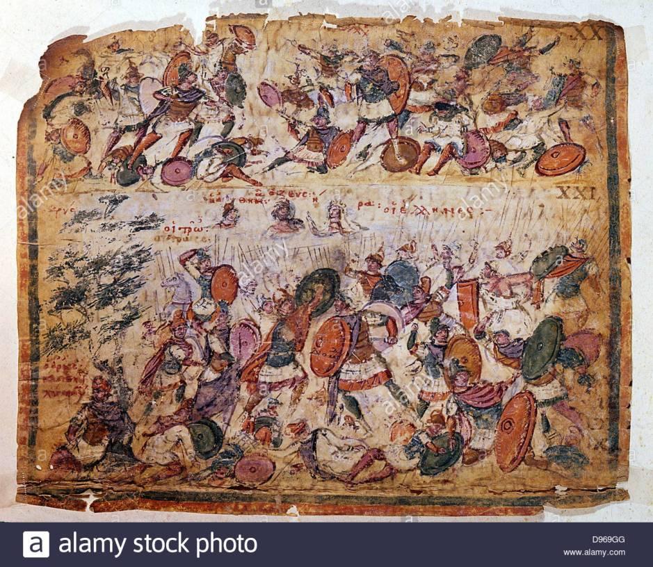 battle-scene-from-a-manuscript-of-homer-iliad-c300-ad-biblioteca-ambrosiana-d969gg